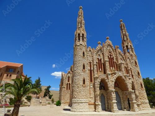 Poster Iglesia de Novelda parecida a Sagrada Familia de Gaudi. Novelda es un pueblo de España situado en la provincia de Alicante, en la comarca del Medio Vinalopó