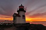 sunrise Brant Point lighthouse   Nantucket Island - 186239201