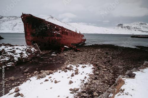 Foto op Plexiglas Schipbreuk Schiffwrack | Djupavik