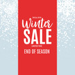 End of Winter Sale Background, Discount Coupon Template. Vector Illustration