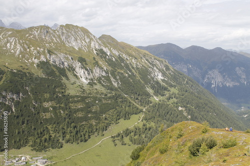 Fotobehang Pistache view of alpine mountains in northern Italy