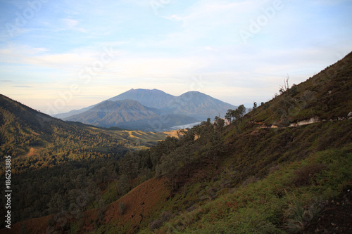 Fotobehang Wit Mont Bromo, Java Indonésie