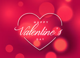 beautiful valentine's day greeting background with bokeh effect - 186289845