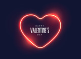 stylish neon light heart for valentine's day - 186289874