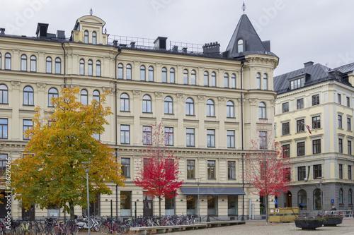 In de dag Barcelona Wohnhäuser in Stockholm