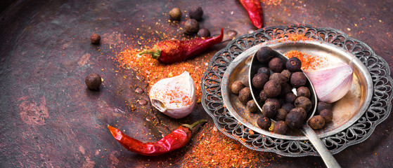 Big set of spices © nikolaydonetsk