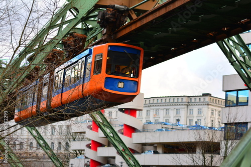 Wuppertal suspension railway. Germany