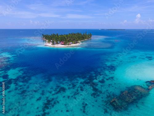 Foto op Aluminium Tropical strand Aerial Image from San Blas Islands in Panama