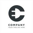 Letter C Logo Design Emblem Template. Creative Electronics Electricity Plug Cord Concept.