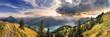 Leinwanddruck Bild - Blick vom Rofan zum Achensee bei Sonnenuntergang