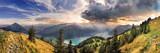 Fototapety Blick vom Rofan zum Achensee bei Sonnenuntergang