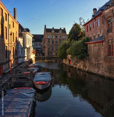 Fotobehang Brugge Bruges. Belgium.