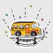transportation school bus patches design