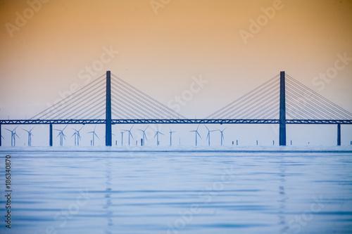 Papiers peints Ponts the oresund bridge between denmark and sweden