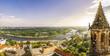 Leinwanddruck Bild - Sicht über Magdeburg und Südturm des Doms
