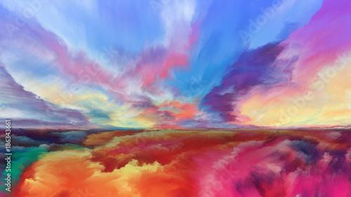 Foto op Canvas Baksteen Advance of Abstract Landscape