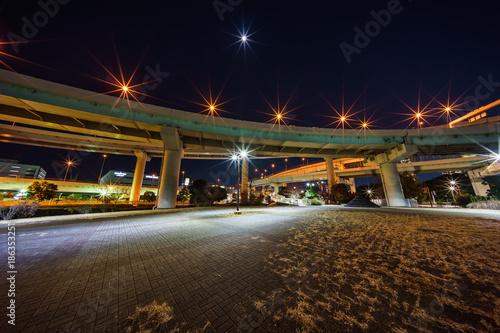 Foto op Aluminium Nacht snelweg 辰巳ジャンクション