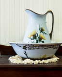 Wash basin and pitcher - 186356471
