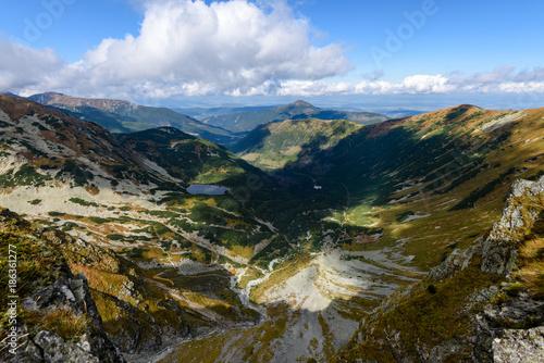 Keuken foto achterwand Beige slovakian carpathian mountains in autumn.