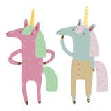 two unicorns - 186364893