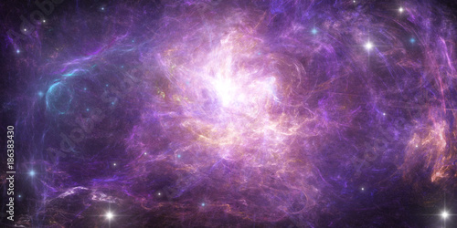 Keuken foto achterwand Heelal Abstract scientific background - planet in space, nebula and stars.