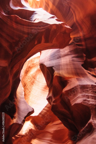 Poster Rood paars Red Rocks of Antelope Canyon