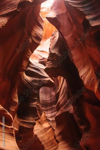Foto op Plexiglas Bruin Red Rocks of Antelope Canyon