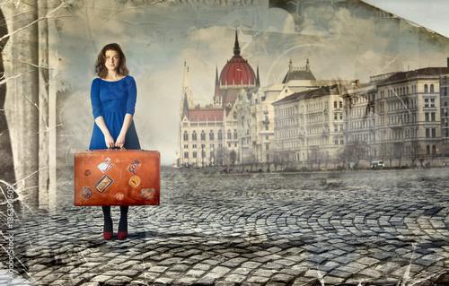 Fridge magnet Travelling abroad