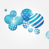 Multicolored decorative balls. Abstract vector illustration