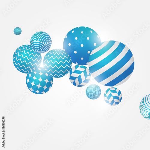 Multicolored decorative balls. Abstract vector illustration