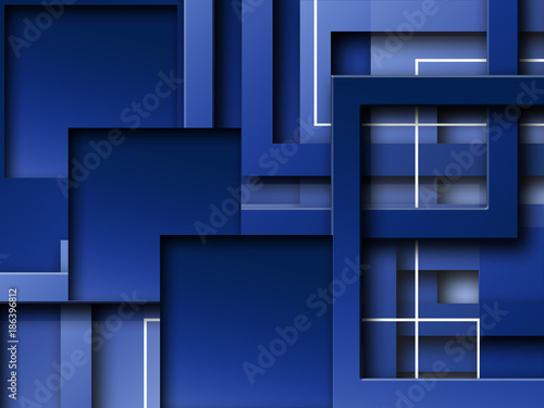 Abstract Geometrical Square Shapes Design Wallpaper Background - 186396812
