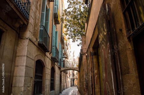 Keuken foto achterwand Smal steegje Barcelona- Catalunya