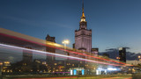 Night view of Warsaw center