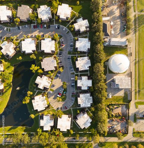 Poster Graffiti South Florida Urban Aerial Photography