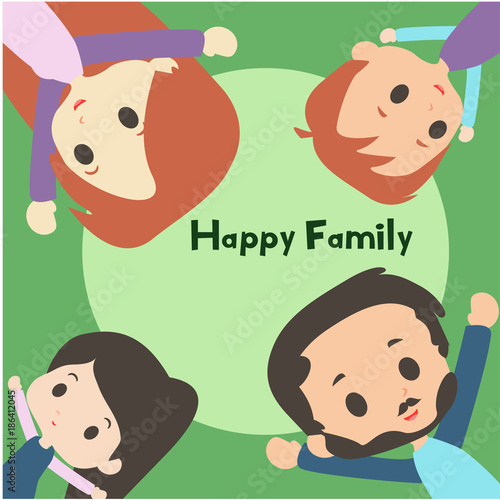 Family Togetherness Illustration