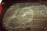 Broken car glass cracked glass effect - 186417057