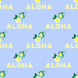 Cotton fabric Hawaiian seamless pattern with plumeria flowers