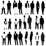 isolated silhouettes set people - 186426215