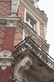 détail architecture immeuble ancien à Mulhouse - 186428476