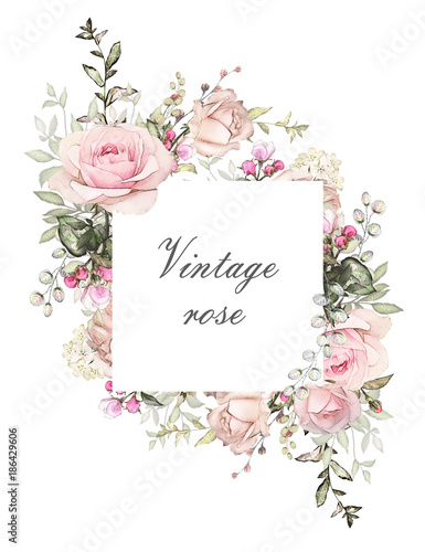 wzor-karty-akwarela-zaproszenie-na-slub-projekt-z-roz-paczek-i-lisci-kwiat-tlo-z-kwiatowymi-elementami-dla-tekstu-tlo-akwarela-szablon-rama