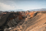 Rainbow mountains in asian geopark at China - 186432645