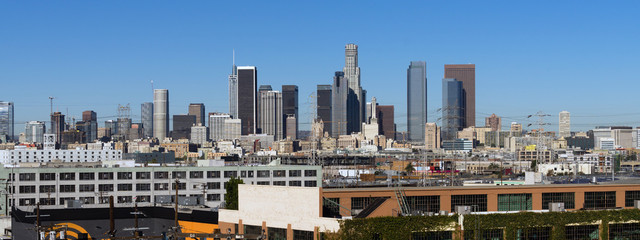 Industrial View Los Angeles Downtown Urban City Skyline