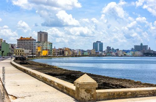 Papiers peints Havana Malecon Seawall