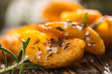 Potatoes. Roasted american potatoes with rosemary salt and cumin - 186443213