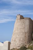 Corsica, 01/09/2017: dettagli architettonici delle antiche mura della Cittadella arroccata di Calvi, famosa meta turistica sulla costa nord-occidentale dell'isola