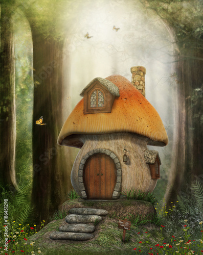 Fairy Tale Mushroom House - 186451298