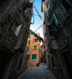 Streets of Rovinj. Croatia.