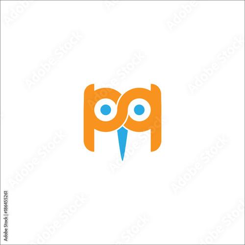 Keuken foto achterwand Uilen cartoon Owl Logo Vector