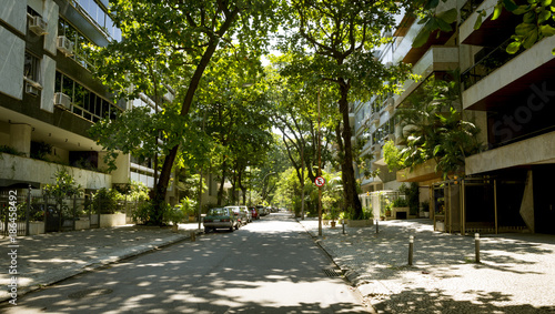 Leblon district street in Rio de Janeiro, Brazil