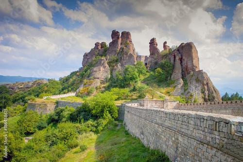 Fotobehang Zalm Belogradchik Rocks in Bulgaria - rock formations natural landscape
